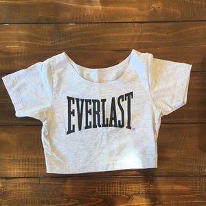 Everlast cropped workout tee